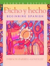 Dicho y hecho: Beginning Spanish 7th Edition (English and Spanish Edition) Daws
