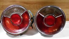 BMW 114 2002tii Coupe Rear Roundie Tail Light Assemblies, L,R 1967-1973 USED OEM