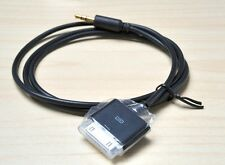 Black AUX 3.5mm Male to male for iPod iPhone iPad Dock Adapter Cable