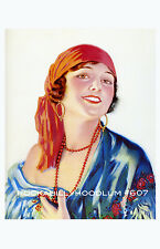 Pin Up Girl Poster 11x17 gypsy pirate princess maiden portrait flapper art deco