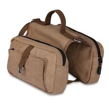 Outward Hound Deluxe Saddle Bags Large Dog Backpacks for Hiking or Camping Brown