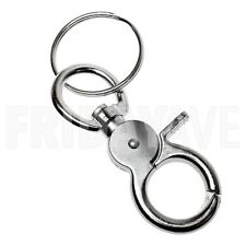 Silver Metal Round Lobster Trigger Swivel Clasps Clips Hook Keychain Key Ring