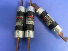 BUSS-FUSETRON, FRN-R-100, 250V TYPE D FUSE, LOTS OF 3