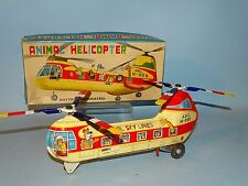 ANIMAL HELICOPTER TIN BATTERY TOY ORIGINAL BOX HAJI