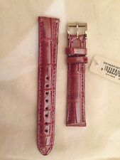 NEW MICHELE $220 - 16MM Pink Orchid Ice Alligator Watch Band Strap MS16AA510575