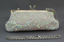 New beaded sequins evening handbag/purse/clutch Colour: White #4