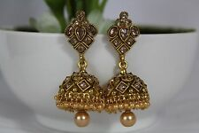 Indian Bollywood Traditional Jhumka Jhumki Earring Jewellery Gold Plated 193