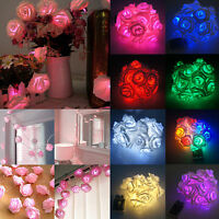 New Rose Flower Fairy Wedding Bedroom Party Christmas Decoration String Lights