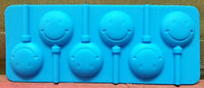 6 Cups Smily Shape Silicone Ice Tray Cake Chocolate Lollipop Mould