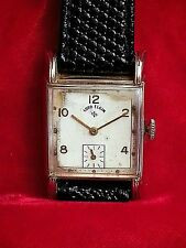 Vtg.1951LORD ELGIN 14k Gold Fill*Cal.556*21Jwl*Running Mens Watch w/sub Dial