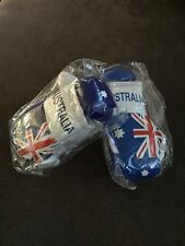 2 PAIRS TWO PAIRS OF AUSTRALIA, AUSSIE FLAG Mini Boxing Gloves BRAND NEW FOR CAR