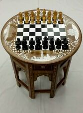 Indian Chess Table With 32 Chess Pieces