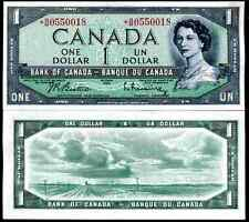 Canada. One Dollar, replacement, series *B/M, series 1954, (Iss; 1961-73). AU.