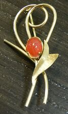 Vintage Detailed 1/20 12K Gold Filled w/ Scarab Stone Brooch/Pin