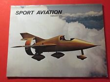 SPORT AVIATION MAGAZINE FEB/1974...THE MILLER JM-2 COVER AIRPLANE