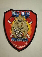 Germany Wild Dogs Feuerwehr Althornbach Volunteer Fire Department Iron On Patch