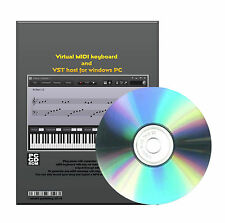 Virtual MIDI keyboard and a VST host PIANO On Key for Windows XP VISTA 7 CDROM