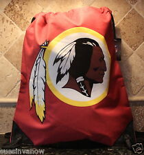 Washington Redskins Backpack Gym Sack Authentic NFL Tote Canvas Draw Cord
