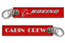 Cabin Crew-Boeing EMBROIDERED TAG-RED X2