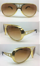 ELVIS SUNGLASSES AVIATOR WITH TRADE MARK EP SILVER