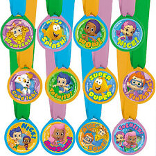BUBBLE GUPPIES AWARD MEDALS (12) ~ Birthday Party Supplies Favors Reward Prizes