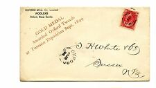 Oxford NS split ring 1900 Gold Medal front and back ad cover Canada