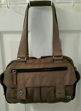 Lacoste Olive Green Canvas Handbag Shoulder Bag Purse Tote