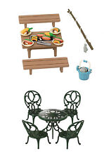 Two Sylvanian Families Sets - PIcnic Theme -  BBQ and Garden Table Sets