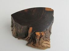 Vintage  Exotic Hardwood Desert Ironwood Box Signed  MCM 1989