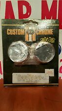 NOS Harley Custom Chrome Fork Tube Caps FXR XL Softail Shovelhead Dyna