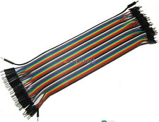 Imported 40PCS Dupont wire jumper cables 20cm 2.54MM male to 1P-1P For Arduino