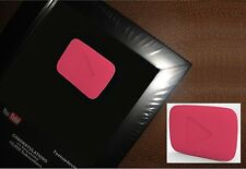 YouTube Replica Playbutton Award Faux Subscriber Reward Fake Wall Plaque Picture