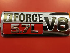 TOYOTA TUNDRA 07-13 V8 iFORCE 5.7L FENDER EMBLEM DECAL SET OF 2 GENUINE OEM NEW