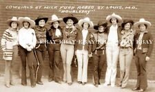 COWGIRL ~ 1920'S COWGIRLS ~ ST LOUIS MISSOURI MO ~ RODEO ROUND-UP PHOTO