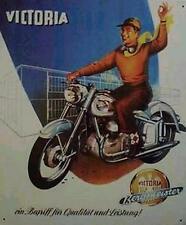 Altes Blechschild Oldtimer Motorrad Victoria Bergmeister Werbung gebraucht  used