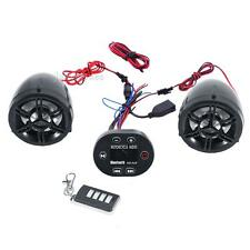 LED Wireless Bluetooth Anti-theft Motorcycle FM MP3 Music Speaker Audio Stereo