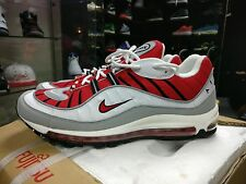 NIKE AIR MAX 98 UNI RED WHITE 2013 RARE 95 90 97 93 1 TN DS QS OG INFRARED UK11