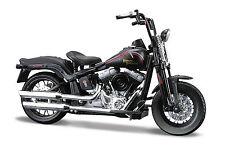 Harley Davidson 2008 FLSTSB Cross Bones 1:18 matt schwarz Motorrad die cast