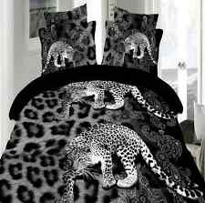 Sale 3D Black Leopard Queen Size Pillowcases Quilt Cover Duvet Cover O