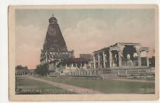 India, Tanjore, Interior of Temple Postcard, B229