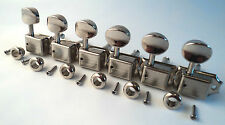 6 Vintage Nickel Split Shaft Kluson Style Machine Heads Tuners Fender Squier 8mm