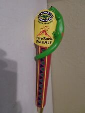 "Rare Kona Fire Rock Ale Red Base Gecko Lizard Volcano 12"" Beer Keg Tap Handle"