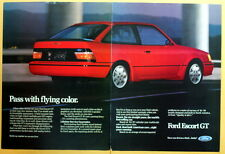 1988 Magazine Print Ad for Ford Escort GT