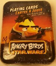 Collector Tin Featuring Luke Skywalker Angry Birds Star Wars Playing Cards