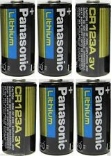(6) Panasonic CR123 CR123A 123  Lithium Batteries Brand New Made IN USA EXP 2024