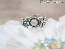 NEW Authentic PANDORA Silver NATURE'S SERENITY Blue Topaz Moonstone Ring 52 6