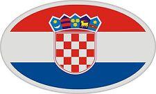 2x Bandiere Croazia Effetto satinato ovale Adesivo