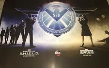 SDCC 2014 AGENTS OF SHIELD & AGENT CARTER Poster ABC 13x20 Extremely Rare