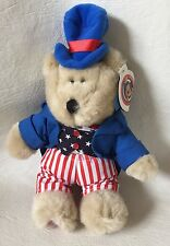 Starbucks Bearista 2002 20th edition Plush Uncle Sam with tag 4th of July