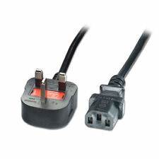 1m IEC Kettle Lead Power Cable 3 Pin UK Plug PC Monitor C13 Cord